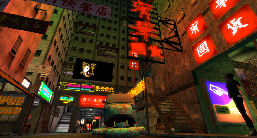 Kowloon in Second Life, by Tizzy Canucci