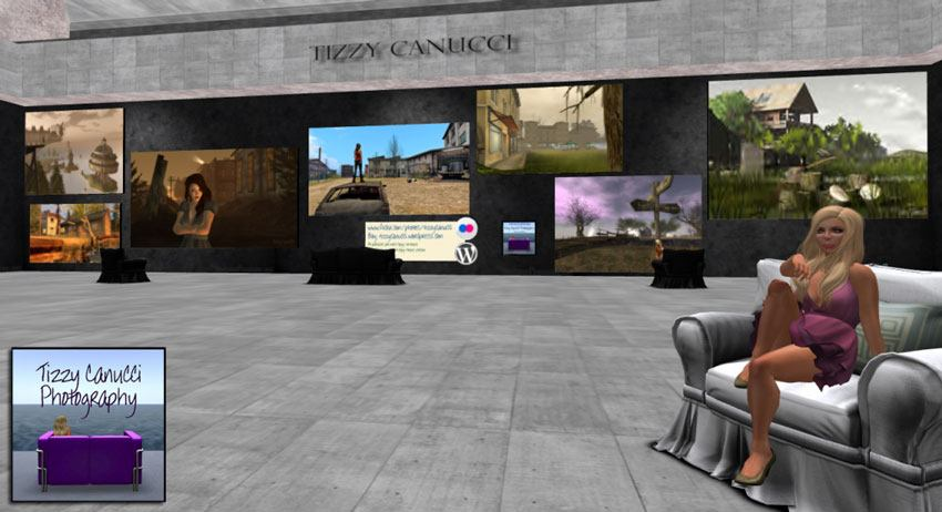 Tizzy Canucci's Artists4SL gallery in Second Life