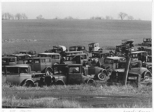 Joes Auto Graveyard, near Bethlehem, PA. Walker Evans, 1936