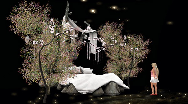 'To bed, to enter, Dreams of Sakura', taken by Tizzy Canucci in Second Life