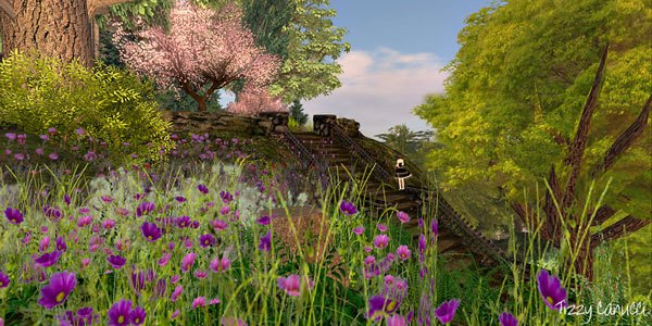 Gardens of Grace in Second Life, photo by Tizzy Canucci