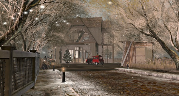 'Winter at L'Arc-en-ciel', in Second Life, photo by Tizzy Canucci