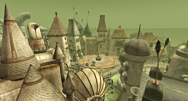 'Little Town' in Second Life, photo by Tizzy Canucci