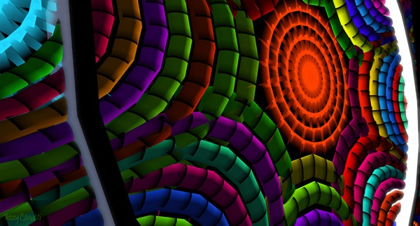 'Art is Geometry: Cushions', taken in Second Life at Tresor de l'Art by Tizzy Canucci