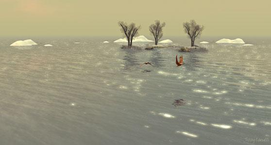 Annwn Willows in Second Life, photo by Tizzy Canucci