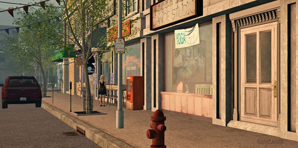 Crestwick Island in Second Life, photo by Tizzy Canucci