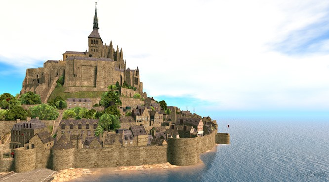 Mont Saint-Michel in Second Life
