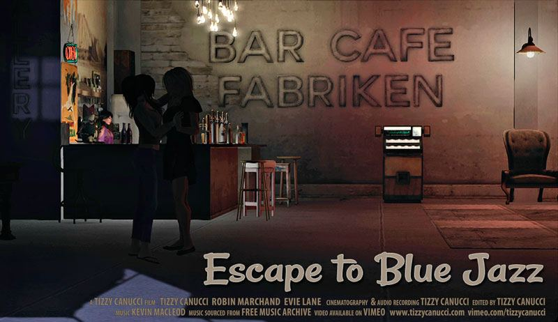 Escape to Blue Jazz poster by Tizzy Canucci