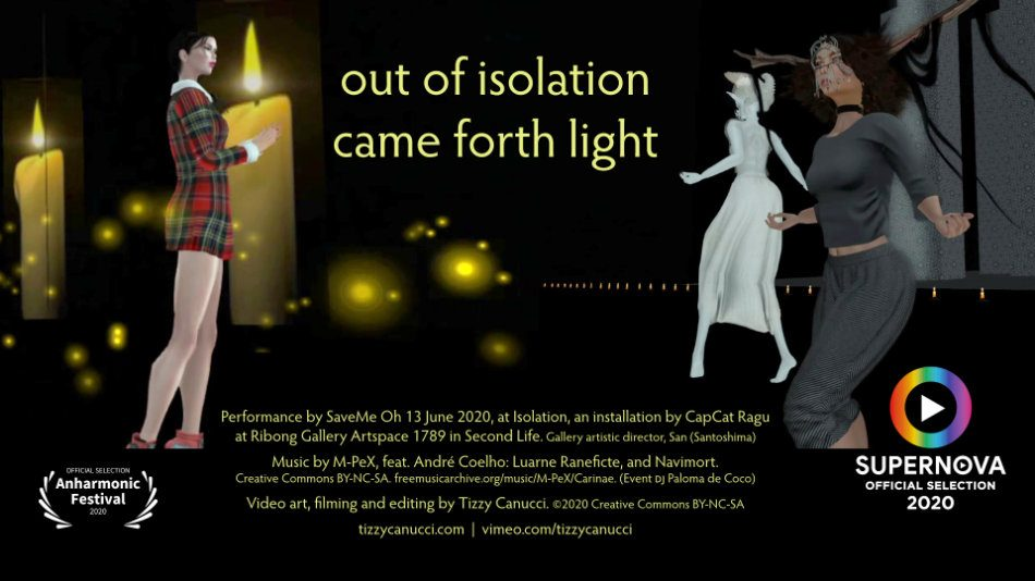 out of isolation came forth light poster